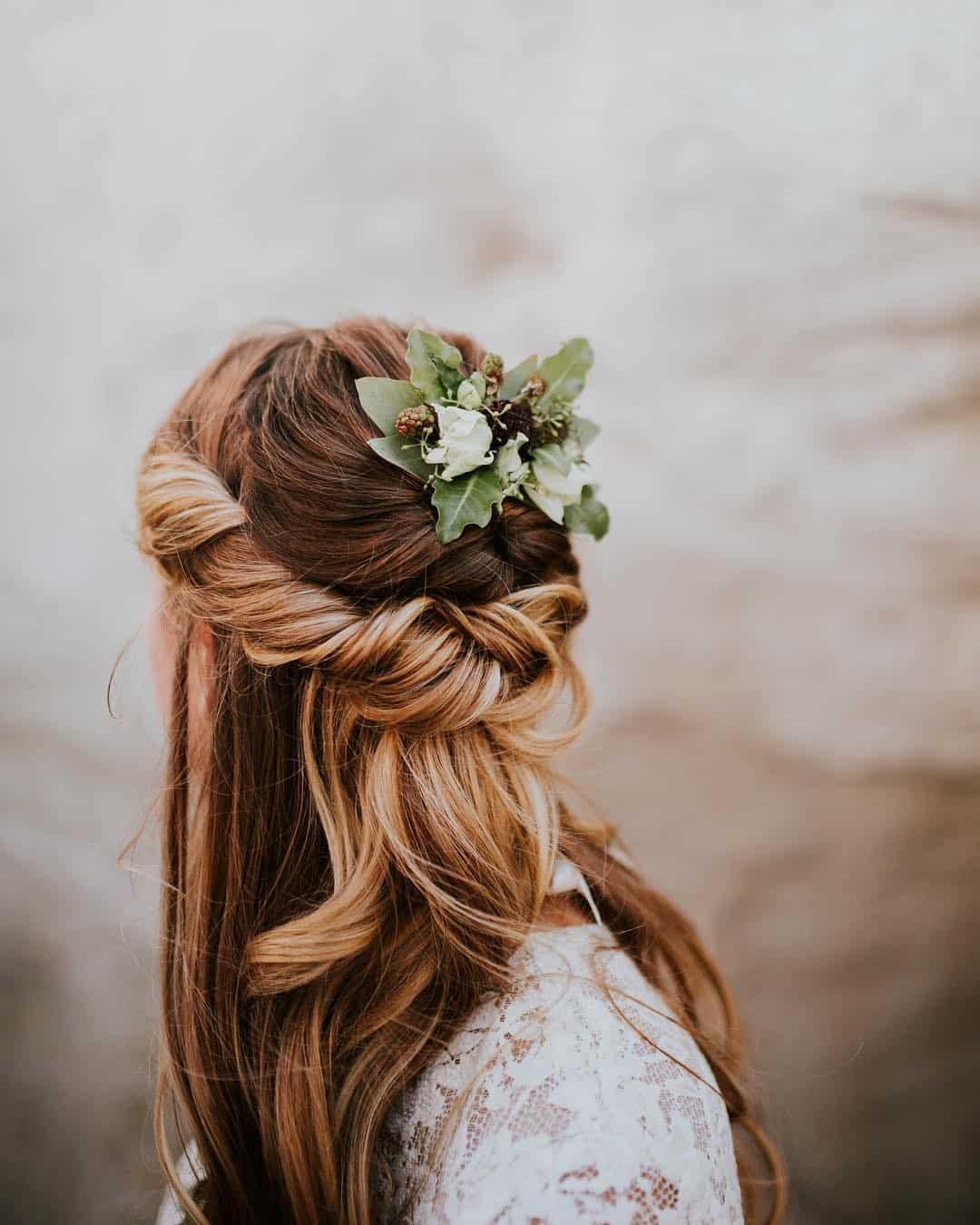 beautiful bridal hair, rustic bride, bridal updo