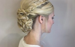 bridal haircut blonde