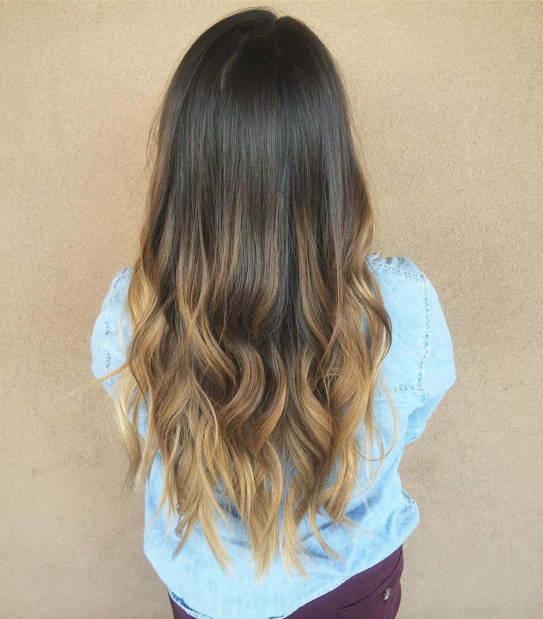 ombre and balayage hair color, ombre color