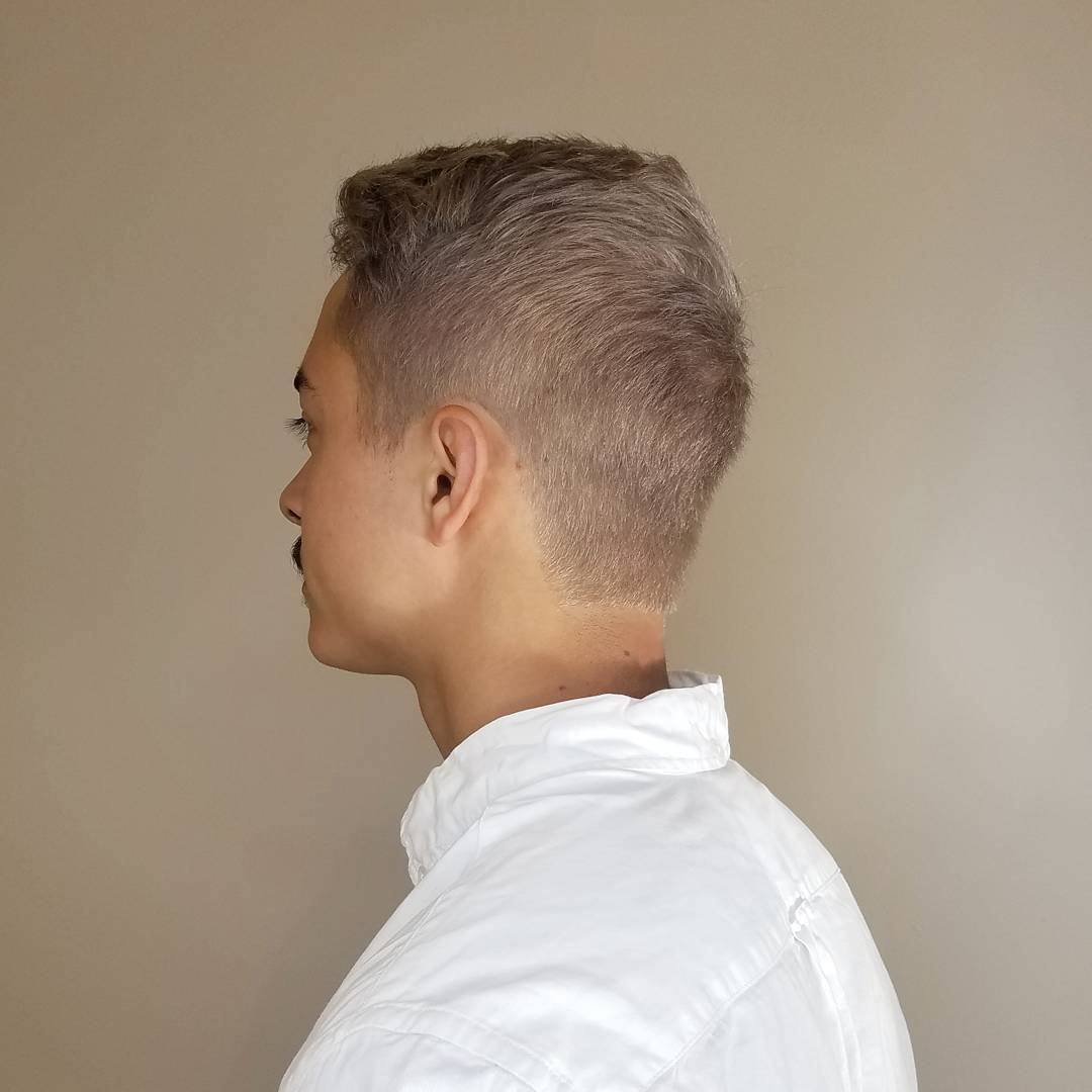 men's silver/grey hair color from zinke hair studio