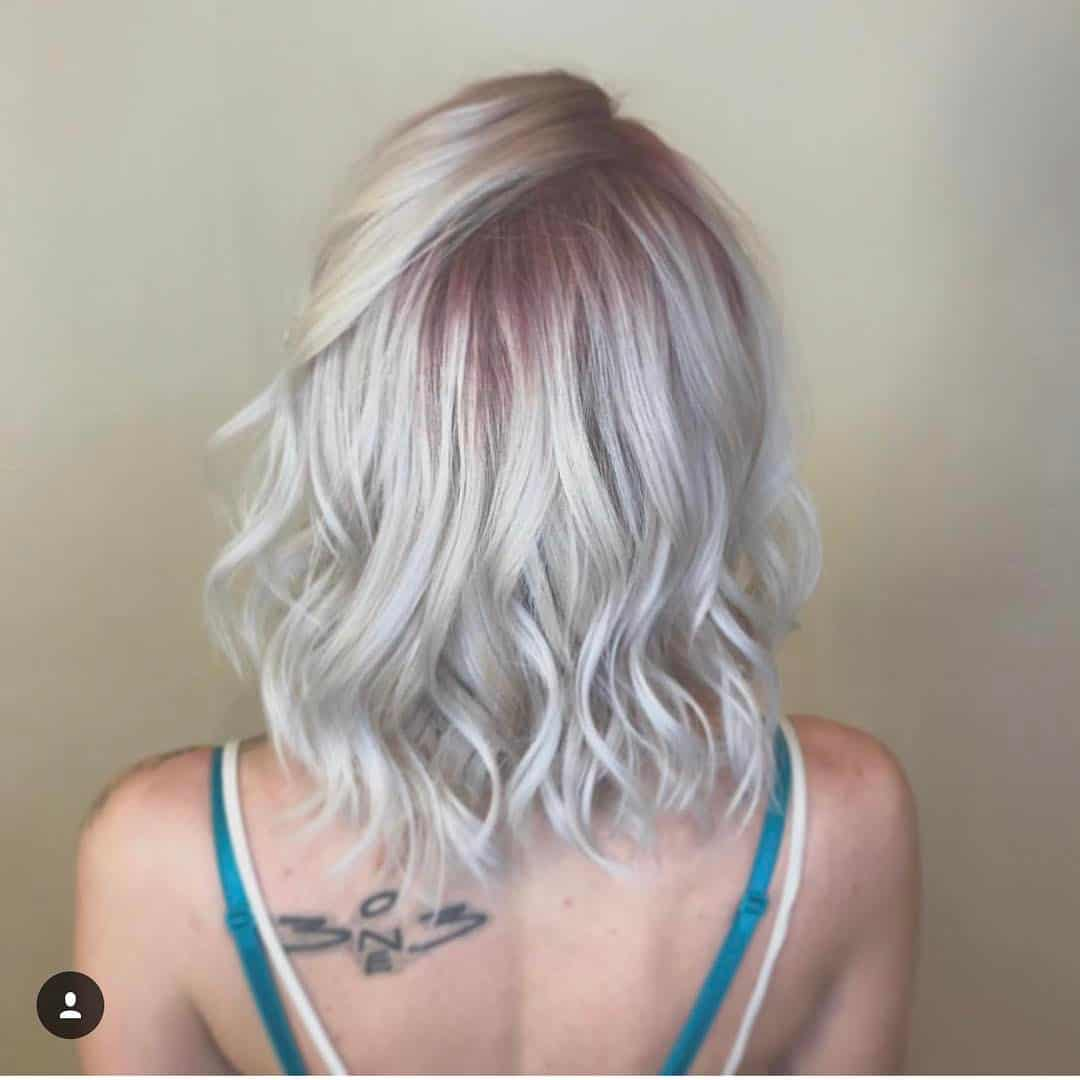 pop of pink haircolor, women's hair color