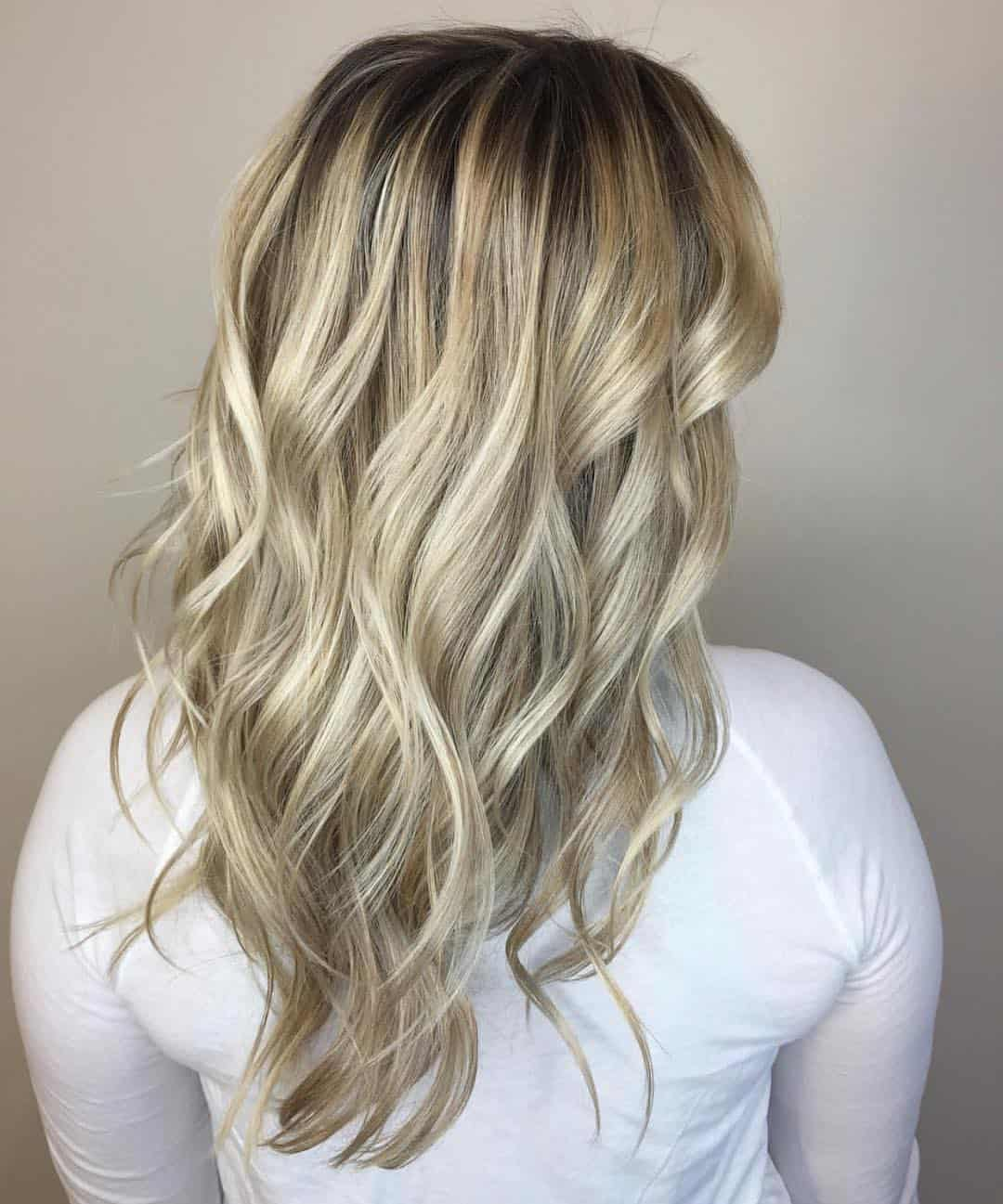 blonde shadow root, blonde hair color