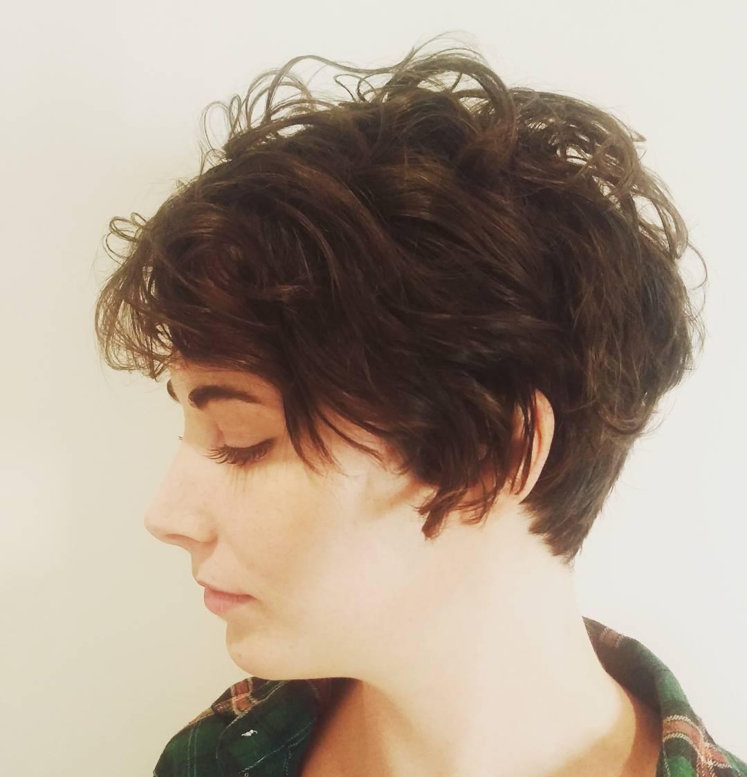 womens textured pixie cut, womens haircut