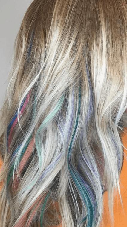 Rainbow Hair Colors with Aveda