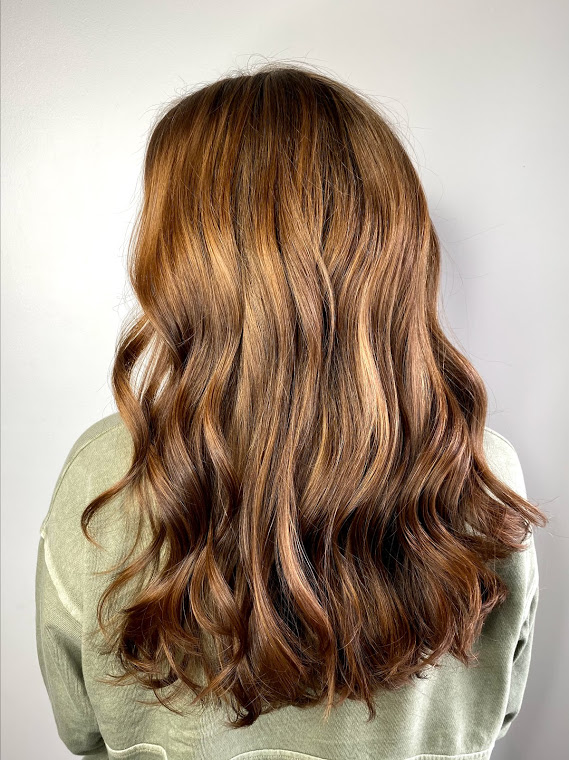 brunette long haircut