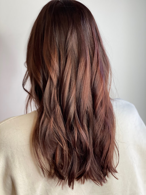 natural aveda red hair color
