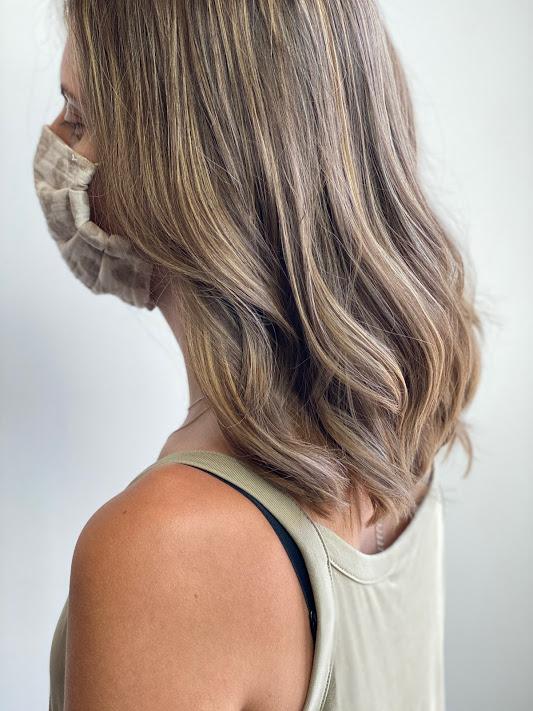 neutral blonde haircut