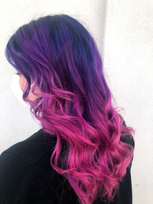 Pink and Purple Haircut